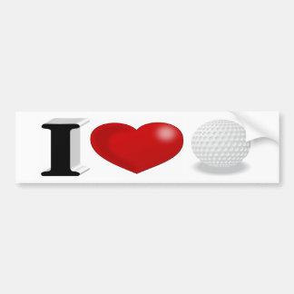 Adesivo Para Carro Eu amo o autocolante no vidro traseiro do golfe 3D
