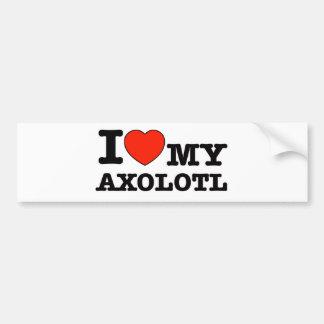 Adesivo Para Carro Eu amo o axolotl