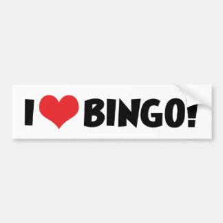 Adesivo Para Carro Eu amo o Bingo do coração! - Amantes do Bingo