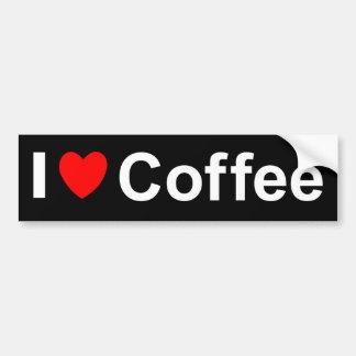 Adesivo Para Carro Eu amo o café do coração