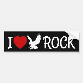 Adesivo Para Carro Eu amo o coração da rocha de Eagle