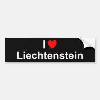 Adesivo Para Carro Eu amo o coração Liechtenstein