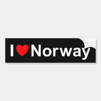 Adesivo Para Carro Eu amo o coração Noruega