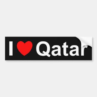 Adesivo Para Carro Eu amo o coração Qatar