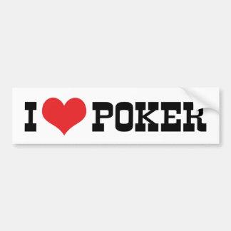 Adesivo Para Carro Eu amo o póquer do coração - amante de Texas