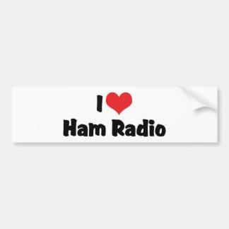 Adesivo Para Carro Eu amo o radioamador do coração - amante de rádio