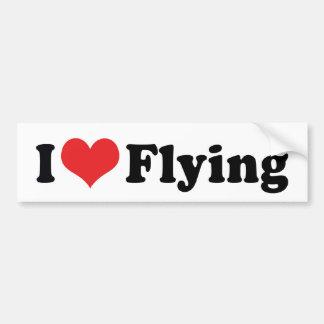 Adesivo Para Carro Eu amo o vôo do coração - amante do avião