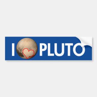 Adesivo Para Carro Eu amo Pluto
