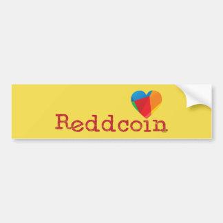 Adesivo Para Carro Eu amo Reddcoin