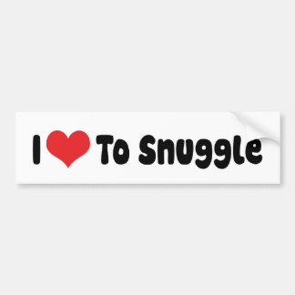 Adesivo Para Carro Eu amo Snuggle o autocolante no vidro traseiro