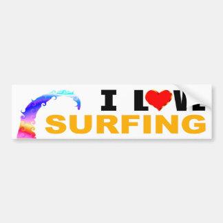 Adesivo Para Carro Eu amo surfar