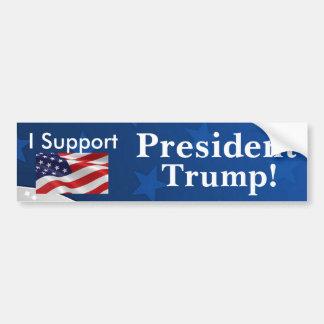 Adesivo Para Carro Eu apoio o presidente Trunfo!