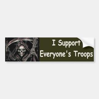 Adesivo Para Carro Eu apoio todos tropas