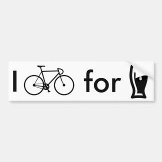 Adesivo Para Carro Eu bike para o autocolante no vidro traseiro da