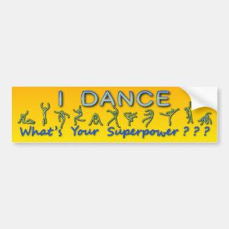 Adesivo Para Carro Eu danço - o que é sua superpotência - o