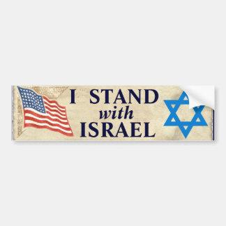 Adesivo Para Carro Eu estou com Israel