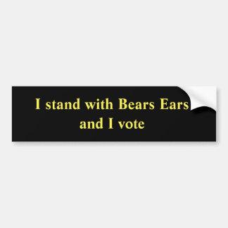 Adesivo Para Carro Eu estou com orelhas dos ursos e eu voto