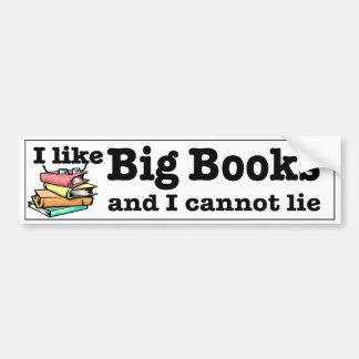 Adesivo Para Carro Eu gosto de livros grandes e eu não posso