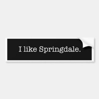 """Adesivo Para Carro """"Eu gosto de Springdale."""" Autocolante no vidro"""