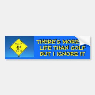 Adesivo Para Carro Eu ignoro a vida, golfe do jogo - carro de golfe