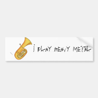 Adesivo Para Carro Eu jogo o metal pesado