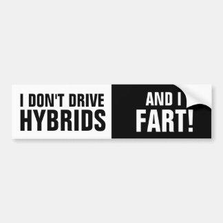 Adesivo Para Carro Eu não conduzo híbrido, e eu Fart