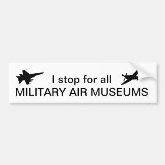 Adesivo Para Carro Eu paro para todos os museus militares do ar