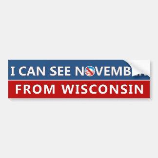 Adesivo Para Carro Eu posso ver novembro de Wisconsin