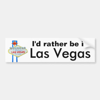 Adesivo Para Carro Eu preferencialmente estaria em Las Vegas
