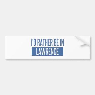 Adesivo Para Carro Eu preferencialmente estaria em Lawrence DENTRO