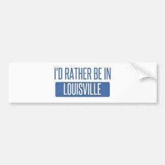 Adesivo Para Carro Eu preferencialmente estaria em Louisville