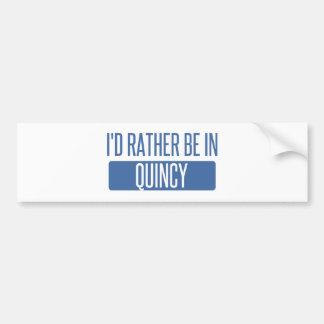Adesivo Para Carro Eu preferencialmente estaria em MÃES de Quincy
