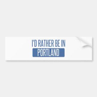 Adesivo Para Carro Eu preferencialmente estaria em Portland OU