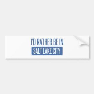 Adesivo Para Carro Eu preferencialmente estaria em Salt Lake City