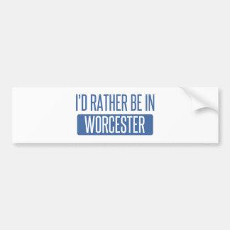 Adesivo Para Carro Eu preferencialmente estaria em Worcester