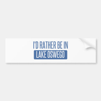 Adesivo Para Carro Eu preferencialmente estaria no lago Oswego