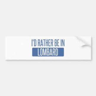 Adesivo Para Carro Eu preferencialmente estaria no Lombard