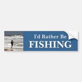 Adesivo Para Carro Eu preferencialmente seria pescar/azul