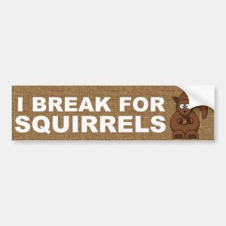 Adesivo Para Carro Eu quebro para esquilos