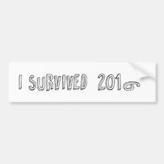 Adesivo Para Carro Eu sobrevivi a 2016