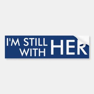 Adesivo Para Carro Eu sou ainda com ela - Hillary Clinton
