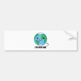 Adesivo Para Carro Eu sou com ela - Dia da Terra do planeta