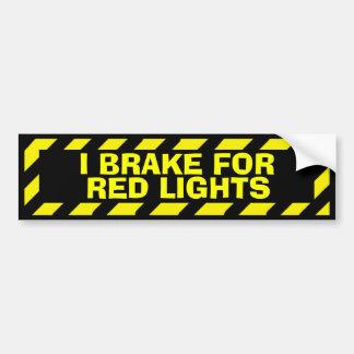 Adesivo Para Carro Eu travo para a etiqueta amarela do cuidado das