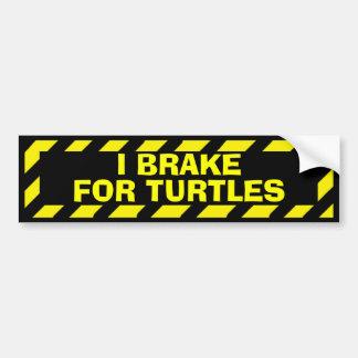 Adesivo Para Carro Eu travo para a etiqueta amarela engraçada do
