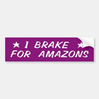 Adesivo Para Carro Eu travo para Amazons