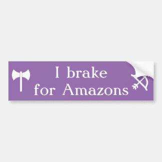 Adesivo Para Carro Eu travo para Amazons - labrys e arco