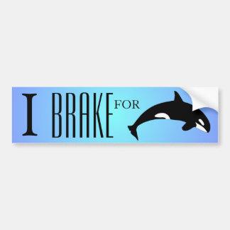 Adesivo Para Carro Eu travo para o azul da silhueta da baleia de