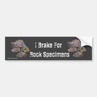 Adesivo Para Carro Eu travo para os espécimes da rocha engraçados