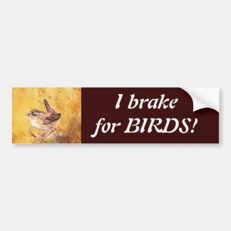 Adesivo Para Carro Eu travo para os pássaros - Birding com arte bonit