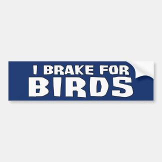 Adesivo Para Carro Eu travo para pássaros